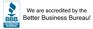 We are accredited by the Better Business Bureau!